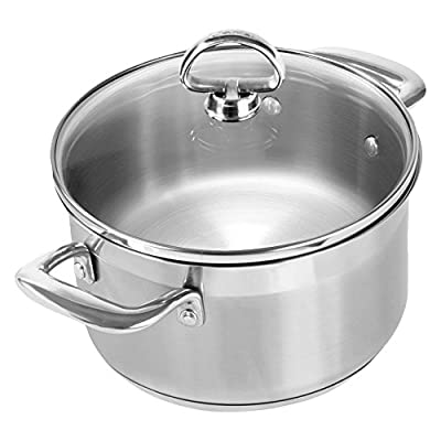 Chantal Induction 21 Steel Soup Pot with Glass Lid