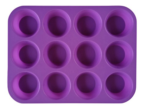Cupcake Muffin & Quiche Pan, 100% Food Grade Premium NonStick Silicone, for Greater Baking Enjoyment