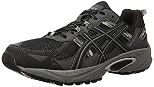 ASICS Men's Gel Venture 5 Running Shoe, Black/Onyx/Charcoal, 11.5 4E US