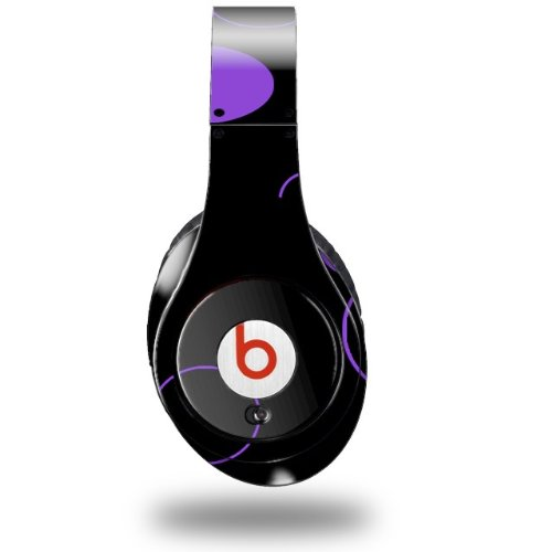 Lots Of Dots Purple On Black Decal Style Skin (Fits Original Beats Studio Headphones - Headphones Not Included)