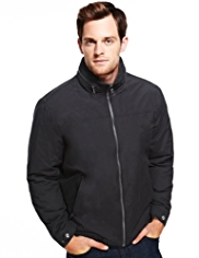 Cotton Rich Funnel Neck Fleece Lined Jacket