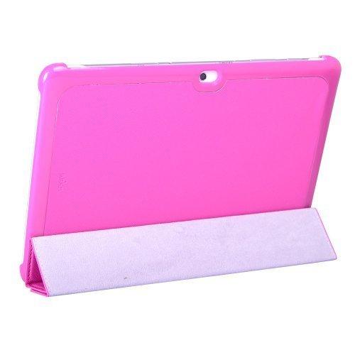 iHarbort Samsung Galaxy Tab 2 10.1 P5100 P5110 Leder Schutzhülle Hülle Tasche Lederhülle Leather Case Cover (P5100 Hot Pink(Rosa))