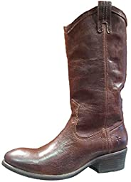 FRYE Women\'s Carson Pull-On Boot, Brown Washed Antique Pull-Up, 6.5 M US