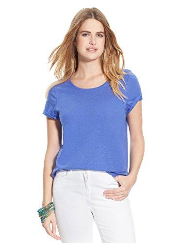 Balsamik - Maglietta tinta unita, maniche corte - donna - Size : 54/56 - Colour : Blu