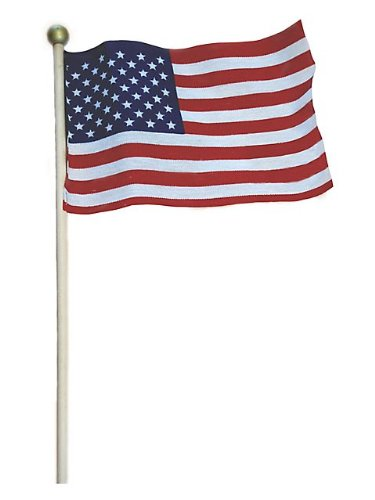 "Valley Forge Stick Flags With Cup Display 4"" X 6"" Polycotton U.S."