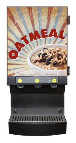 Wilbur Curtis Café Oatmeal Dispensing System 3 Station Café - Oatmeal Dispenser - CAFEOAT3 (Each)