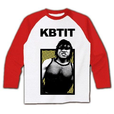(クラブティー) ClubT KBTIT ラグラン長袖Tシャツ(ホワイト×レッド) M ホワイト×レッド