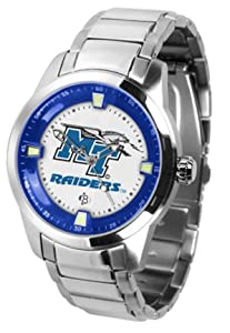 Middle Tennessee State Blue Raiders Titan Steel Watch by SunTime