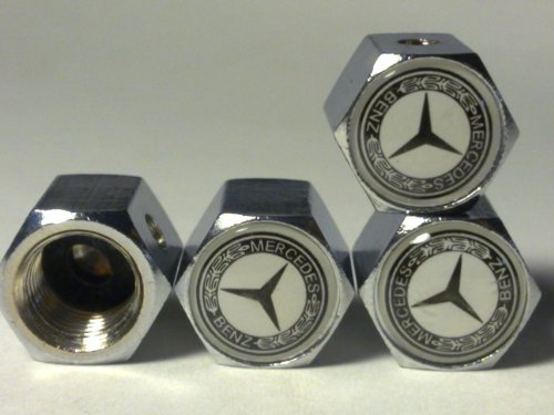MERCEDES BENZ Anti-theft Car Wheel Tire Valve Stem Caps(MS) image