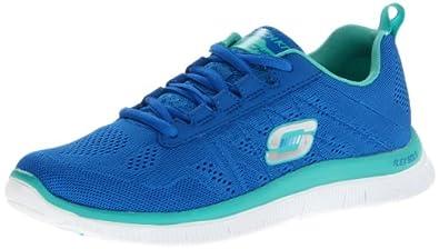 Skechers Flex AppealSweet Spot, Damen Sneakers, Blau (BLAQ), 35 EU