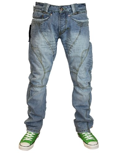 New Mens Light Wash J2 101411 Designer Branded Tapered Fit Denim Jeans W26 L30