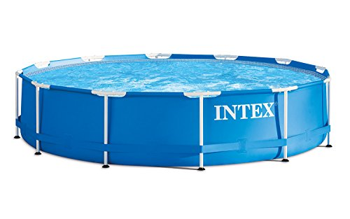 intex 366x122 cm schwimmbecken swimming pool schwimmbad ersatzpool frame metal 28904. Black Bedroom Furniture Sets. Home Design Ideas