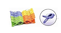 Plastic Peg Clips 8CM Clothes Pegs Clothespins Clothes Clip Windproof Pack of 20 (Color & Design May Vary)
