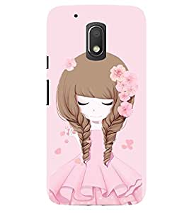 Evaluze girl Printed Back Cover for MOTO G4 PLAY