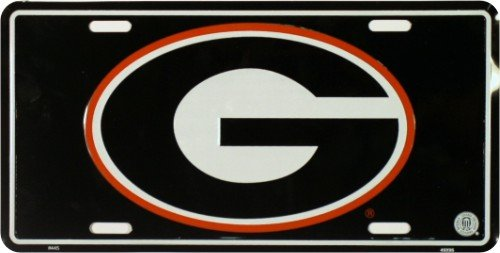 University of Georgia License Plate Tin Sign 6 x 12in (Bulldogs License Plate compare prices)