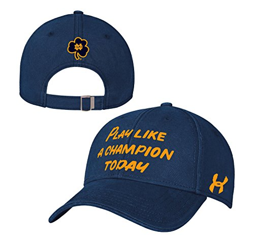 "Notre Dame Fighting Irish Under Armour NCAA ""Play Like a Champion"" Slouch Hat Cappello"