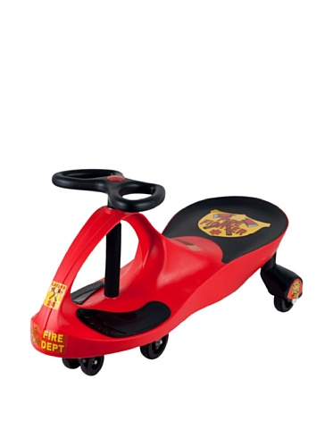 Lil' Rider Rescue Firefighter Wiggle Ride-On Car, Red front-407605