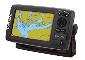 Lowrance 000-10975-001 Elite-7M Chartplotter with Navionics Gold Charts by Lowrance