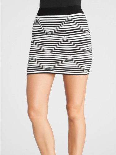 GUESS by Marciano Carys Stripe Mini Skirt