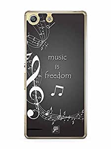 YuBingo Music is Freedom Designer Mobile Case Back Cover for Sony Xperia M5