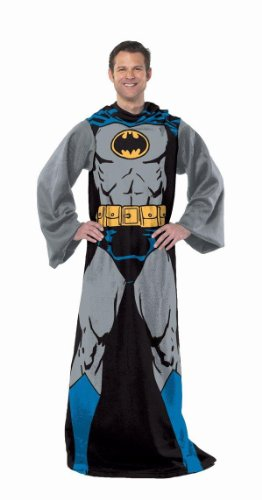 Learn More About DC Comic Batman, Batman in Black 48-Inch-by-71-Inch Adult Comfy Throw with Sleeves ...
