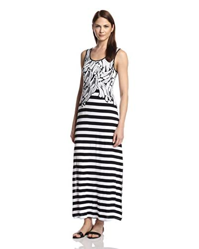 kensie Women's Multi Printed Maxi Dress