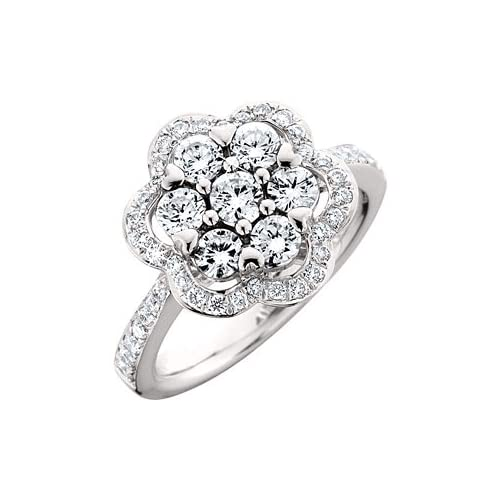 1.25 Carat 18kt White Gold Diamond Ring