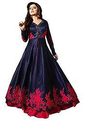 Shiv Fashion Benglori Embroidery Flower Work Semi Stitched Anarkali