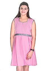 Selfi Pink Chic And Eye-catching High Dress Design party ware Dress for Girls_JVD0095