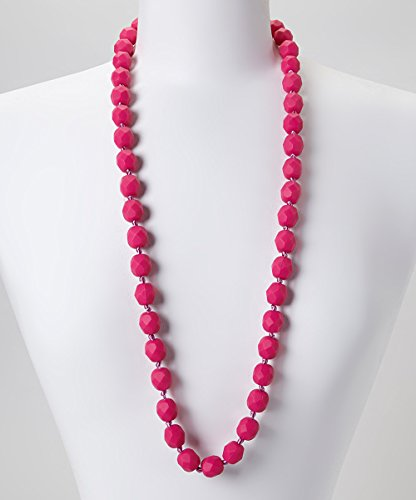 GUMEEZ Lyla Teething Necklace - Barbie Pink