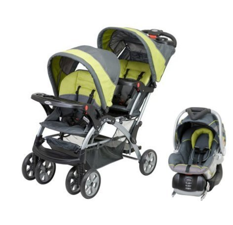 Baby Trend Sit N Stand Inline Double Baby Stroller & Car Seat Travel System