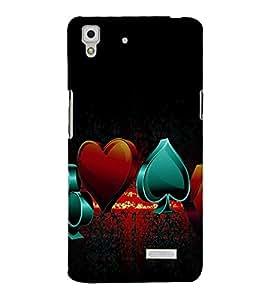 printtech Cards Logo Back Case Cover for Oppo R7