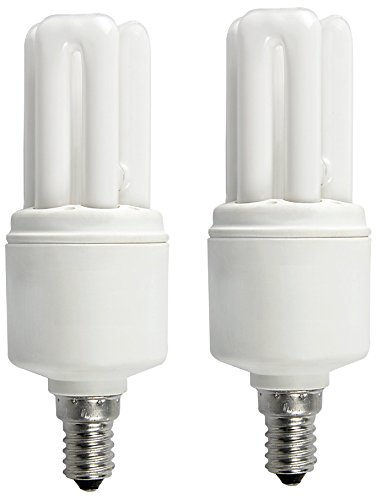 Osram 5W 3U E27 Mini Stick CFL Bulb (Yellow, Pack of 2)