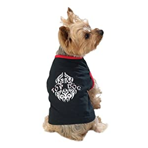 Casual Canine 20-Inch Polyester and Cotton Attitude Dog Tee, Large, Black