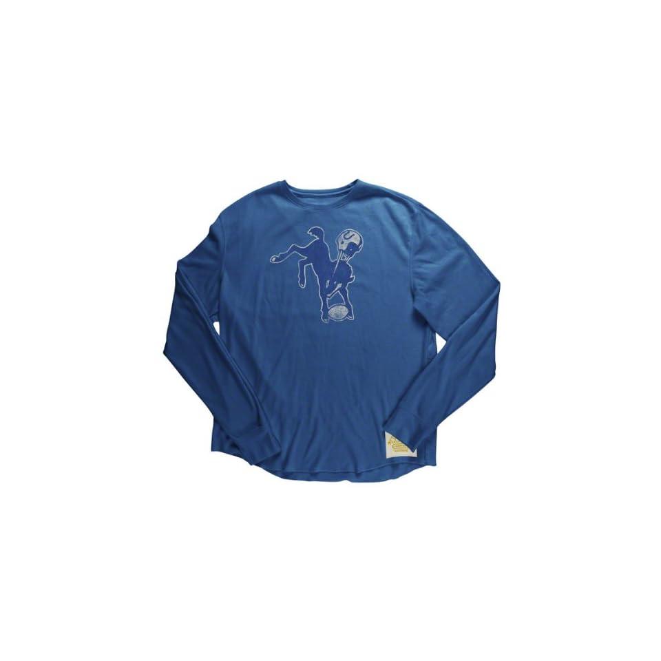 Reebok Indianapolis Colts Big Retro Logo Long Sleeve Soft Thermal T Shirt