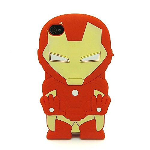 iPhone 6 6S Plus Case, Anya 3D Cute Bow Superhero Series Style Cartoon Soft Rubber Silicone Back Shell Case Cover Skin for Apple Iphone 6 6S 5.5 inch Superhero iron Man at Gotham City Store