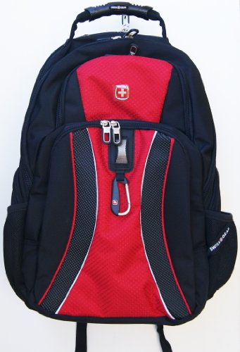 "Swissgear 17"" Black And Red Notebook Backpack"