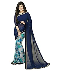My online Shoppy Georgette Saree (My online Shoppy_25_Blue)
