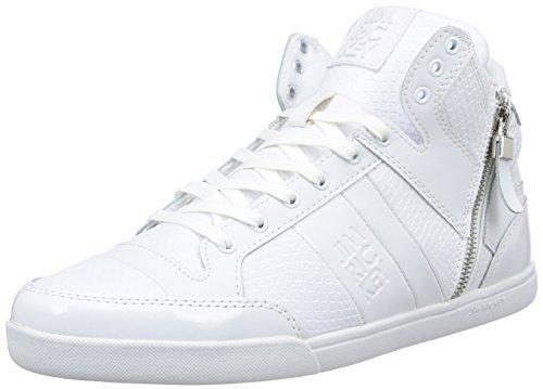 Jim Rickey  Carve Mid Z,  Sneaker uomo Bianco Blanc (Snake) 43