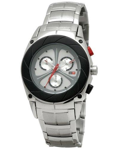DFactory Men's DFM018CSA Black Label Silver Dial Bracelet Chronograph Watch