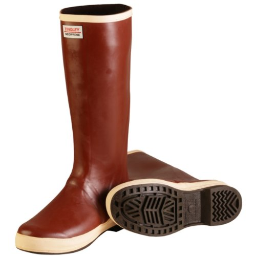 Tingley Rubber Mb926B 16-Inch Neoprene Snugleg Boots, Size 12, Plain-Toe, Brick Red