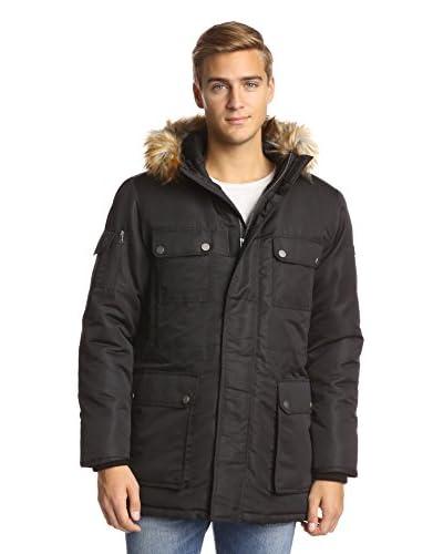 Sean John Men's Textured Nylon Snorkel Jacket