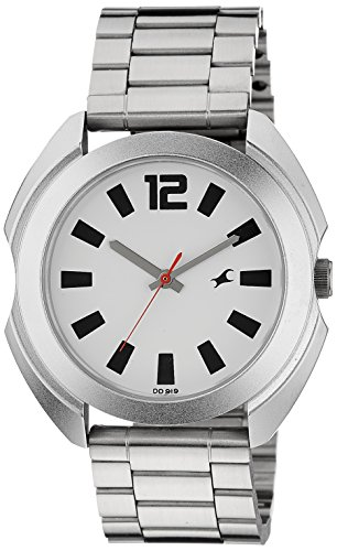Fastrack-Casual-Analog-Silver-White-Dial-Mens-Watch-3117SM01