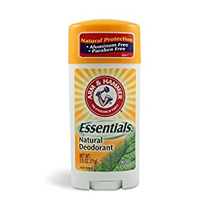 Arm and Hammer Essentials Natural Fresh Deodorant 2.5 Oz (Pack of 6)