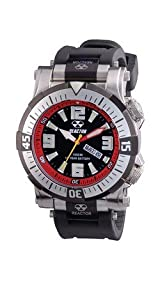 Poseidon - Black & Red Dial, Black Rubber Strap