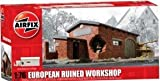 European Ruined Workshop Resin Ready-Built Unpainted 1/76 Airfix
