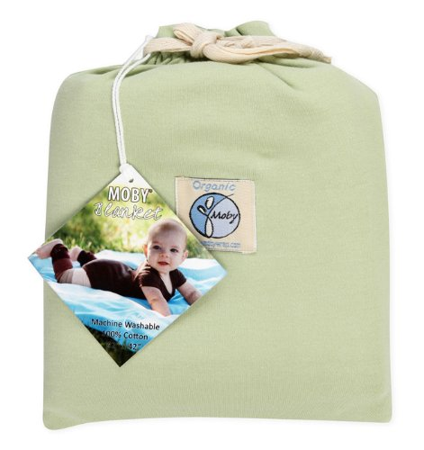 Moby Wrap Organic 100% Cotton Swaddle Blanket, Celery front-1061560
