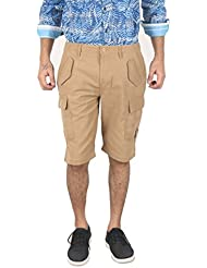 Samaaple Beige Men's Cotton Shorts (CSS000S6_Beige_)