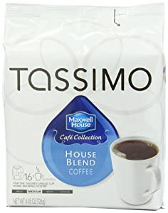 Maxwell House Cafe Collection House Blend, 16-Count T-Discs for Tassimo Brewers (Pack of 3)