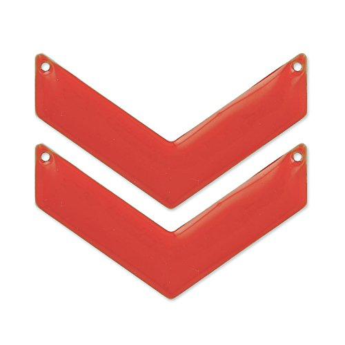 intercalaires-chevron-2-trous-email-epoxy-50x28-mm-red-corail-x2